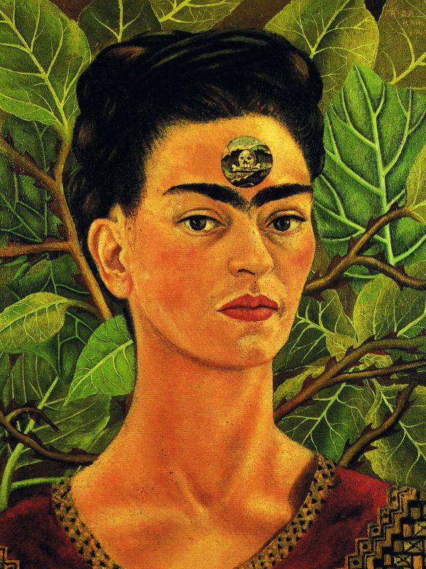 Frida Kahlo Self Portrait Middle School Art Project