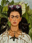 Frida Kahlo, Self-Portrait with Thorn Necklace and Hummingbird, 1940. © 2014 Banco de México