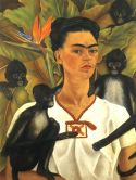 Frida Kahlo. Self-Portrait with Monkeys. 1943.