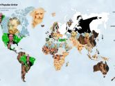 World Map most wanted artists 2020