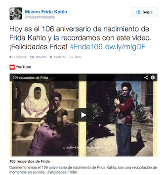 Fridsa Kahlo 106 birth anniversary
